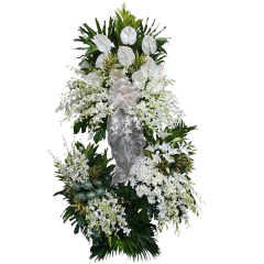 Express your sympathy and condolence with funeral flower arrangements from Manila Blooms. Send funeral flowers Manila, Makati, Quezon City, Paranaque