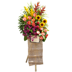 Floral sprays for company events and openings. Online flower delivery in the Philippines.