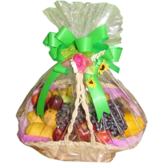 a basket of fresh fruits. Best gift for same day delivery. Mother's day gift of fruits. Christmas day gift basket of fruits