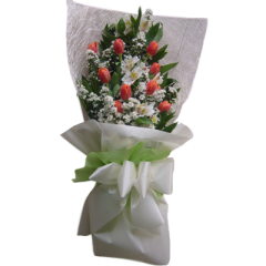 Bouquet Tulips. Send flower gift on Valentine's day by reliable Manila flower shop.