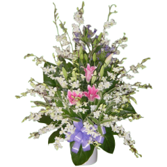 Send your condolences with this funeral vase arrangement, Same day delivery by Philippine online flower shop. Best florist for sympathy sprays.