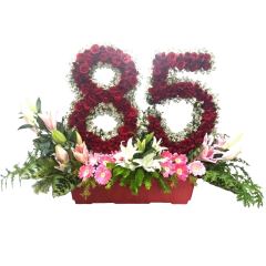 Send flower blossoms arrangement with roses by Manila blooms online florist.