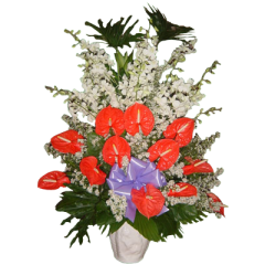 send your condolences with this funeral flowers,  Funeral, sympathy flowers delivery by reliable Manila Flower shop.