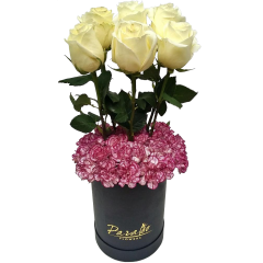 Box arrangement 6 Ecuador roses. Best Valentine's day gift.Flower delivery Manila, Flower delivery Quezon City, Flower delivery Pasig, Flower delivery Paranaque, Flower delivery Philippines. Flower Shop Manila.