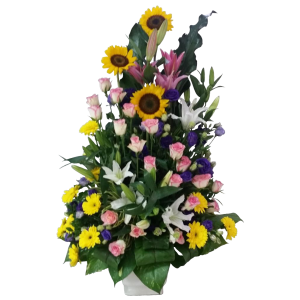 Huge vase arrangement of imported roses. Free delivery by experienced Philippine online flower shop