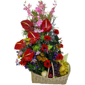 flowers and fruit arrangement guaranteed fresh send fruit basket online florist delivery free in Manila, Makati, Muntinlupa, Pasig