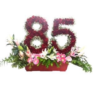 Send flower blossoms arrangement with roses by Manila blooms online florist.