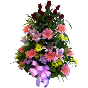 vase arrangement spring flowers by Manila Blooms Flower shop. Reliable online florist. Same day delivery in Metro Manila.